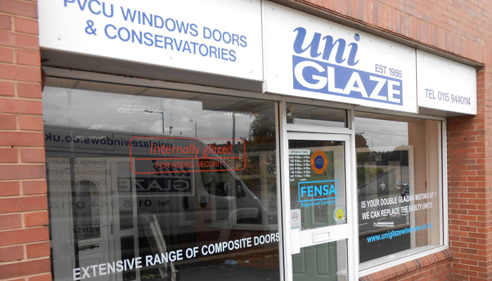 Uniglaze Ilkeston Showroom